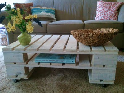 White Washed Pallet Coffee Table