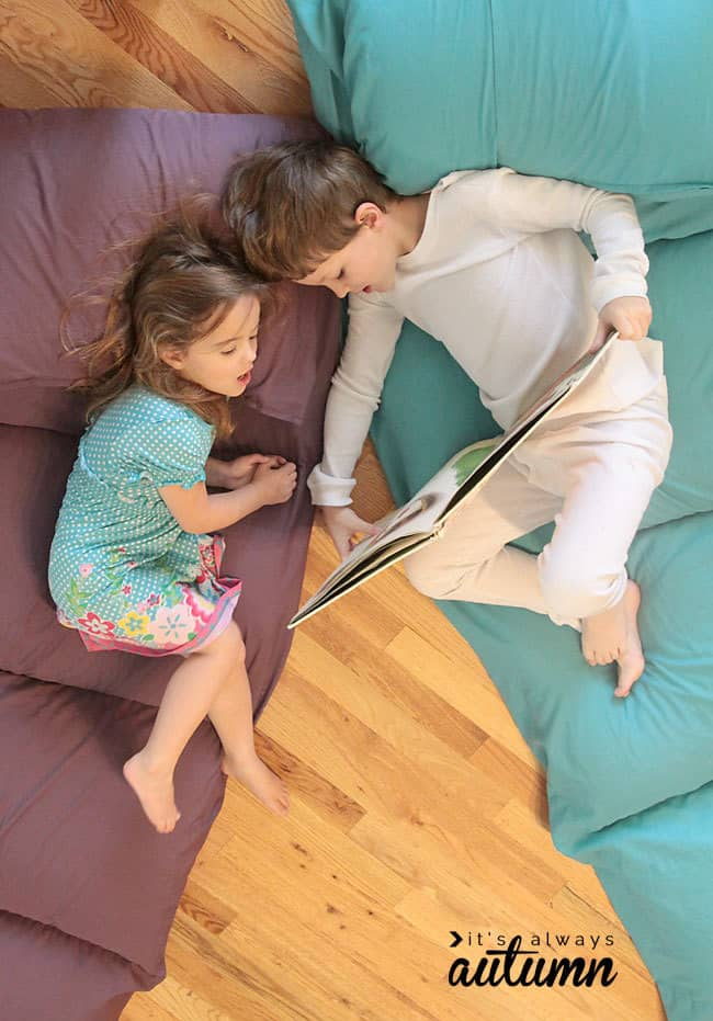 DIY Pillow Bed for Kids