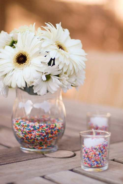 DIY Sprinkle Centerpiece