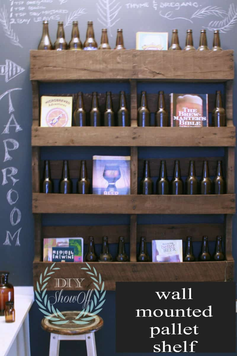 Wall Mounted Pallet Shelf