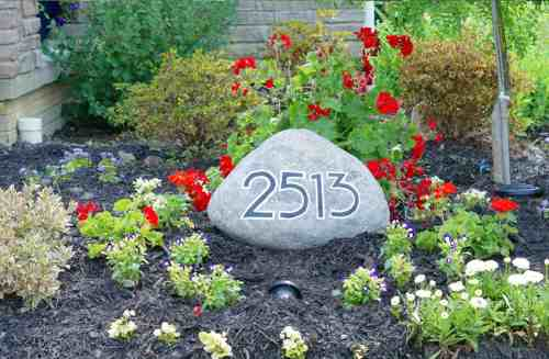 DIY House Address Stone