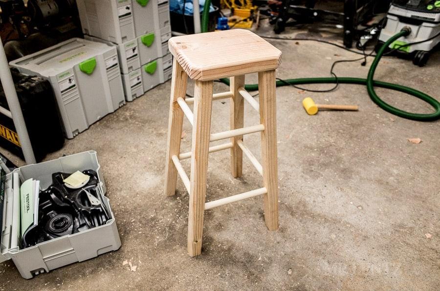 DIY Wooden Barstool