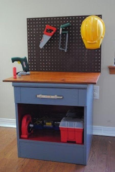 Nightstand Kid Workbench DIY
