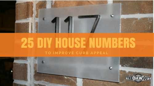 Polycrylic Vs Polyurethane In Remarkable Diy House Numbers