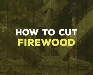 how to cut firewood