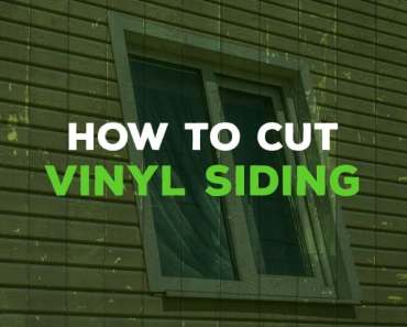how to cut vinyl siding