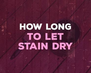 how long to let stain dry