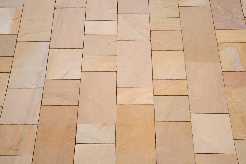 varied warm tone stone tiles