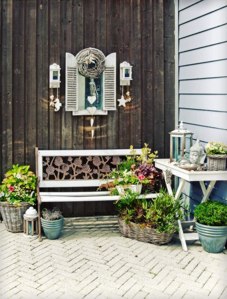 patio bench rustic
