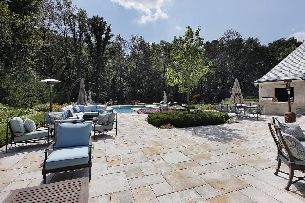 large open deck patio