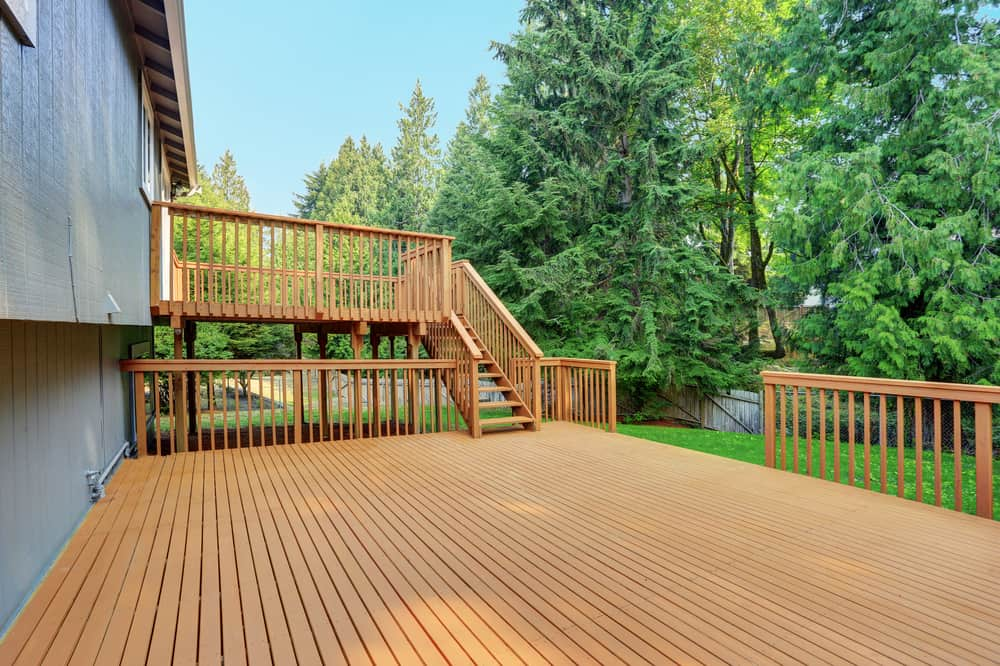 double layered deck
