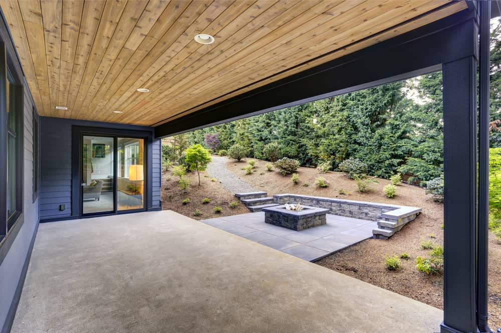 patio extension seating fire pit