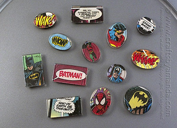 Superhero Magnets These superhero magnets are so awesome and would be terrific for your fridge, toolbox or any other magnetic surface. If superheroes aren't your thing, you could always do something different too. Either way, they look cool and are completely functional. thesawguy.com