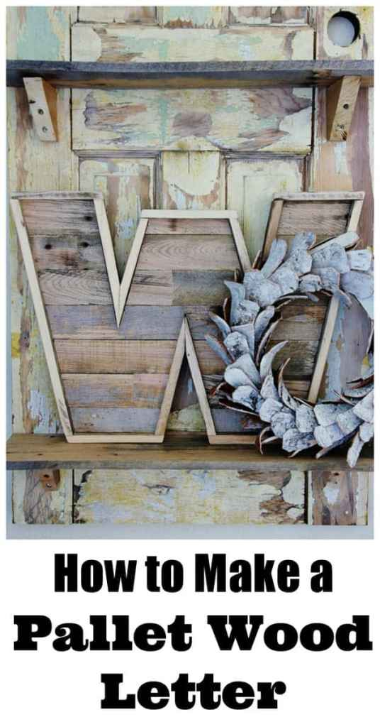 DIY Pallet Wood Letter Create a stunning pallet wood letter that will look brilliant on your mantle or front door. The rustic charm will add to elegance to any space. You only need minimal supplies too.thesawguy.com