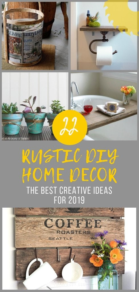22 Rustic DIY Home Decor Ideas - thesawguy.com