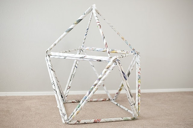Newspaper Fort Imagine how much fun your little ones are going to have building and playing in their ownhomemade newspaper fort. Now you finally have a great use for that giant stack of newspapers you have had sitting around.thesawguy.com