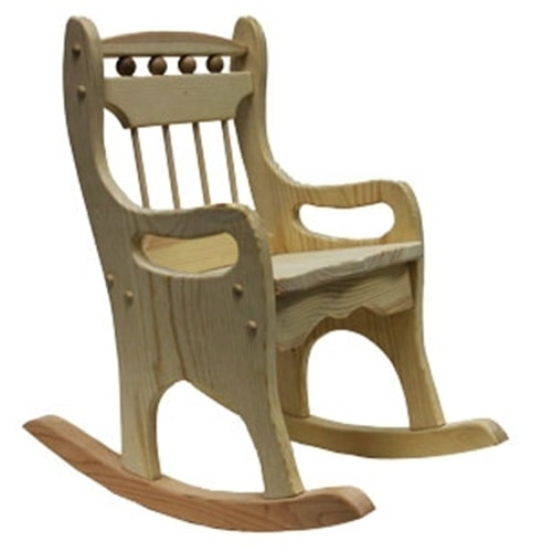 Make your kids or grandkids happy when you build them a wooden rocking chair. This kit is ready to assemble. You can stain or paint depending on your preference. thesawguy.com
