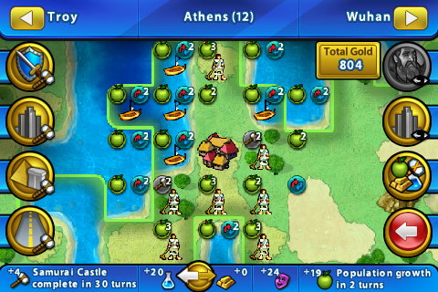 Screenshot of zoomed city information.