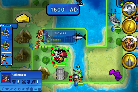 Screenshot of the world map.