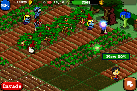 Plowing in Zombie Farm