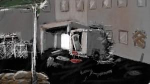 ambulance in hospital wall