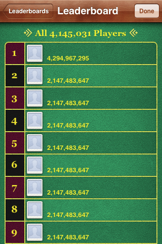 Temple Run leaderboard