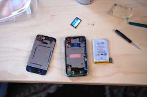 iPhone innards