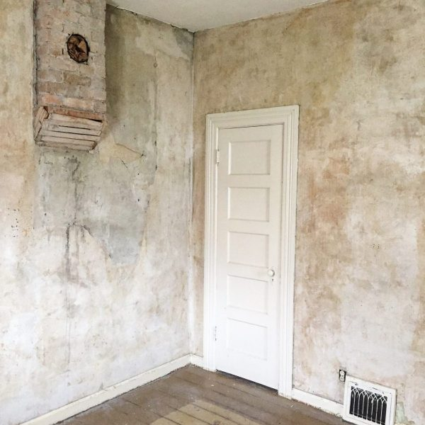 Old House with Plaster Walls