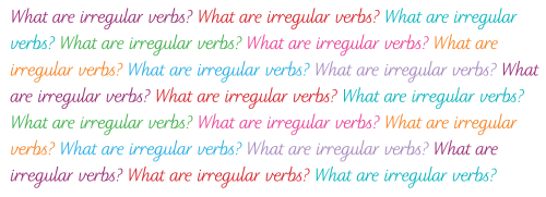small resolution of What are irregular verbs?   TheSchoolRun