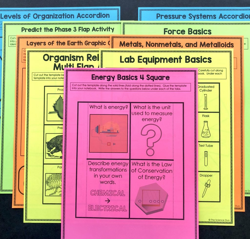How to Effectively Use Interactive Notebooks - The Science Duo