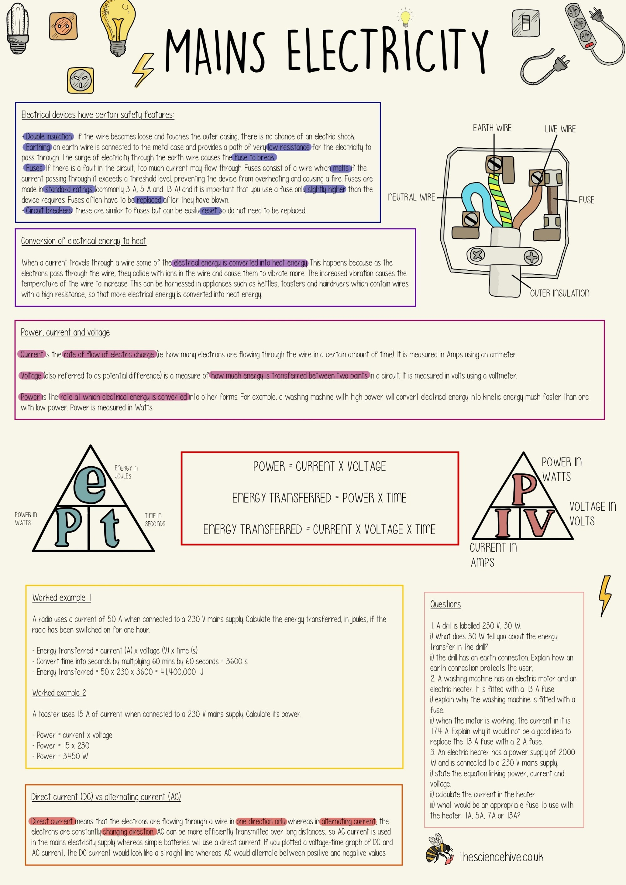 hight resolution of Current Electricity Worksheet   Printable Worksheets and Activities for  Teachers