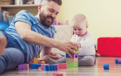 Dad's involvement with baby early on associated with boost in mental development