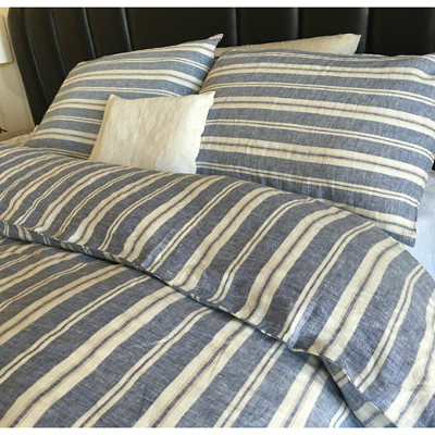 Nautical Stripe Navy Duvet Country Bedding with pillow cases