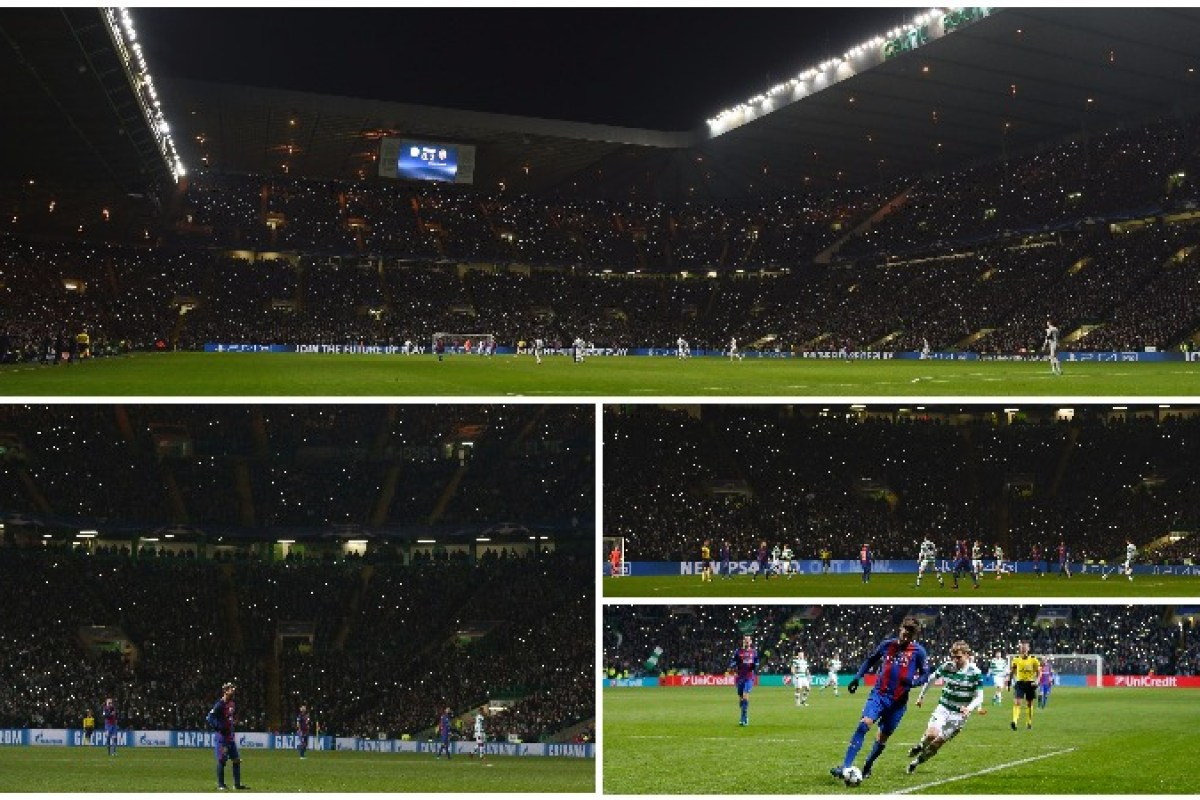 Celtic Park Joins Together To Produce Stunning Light Show