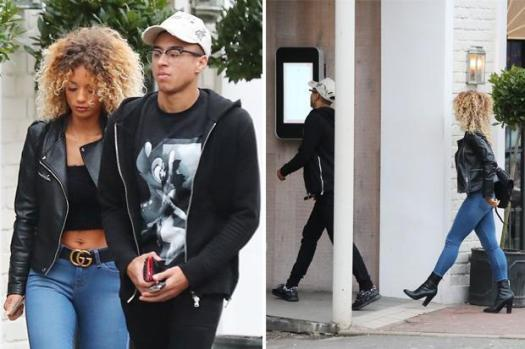 Man United star Jesse Lingard heads out with stunning ...