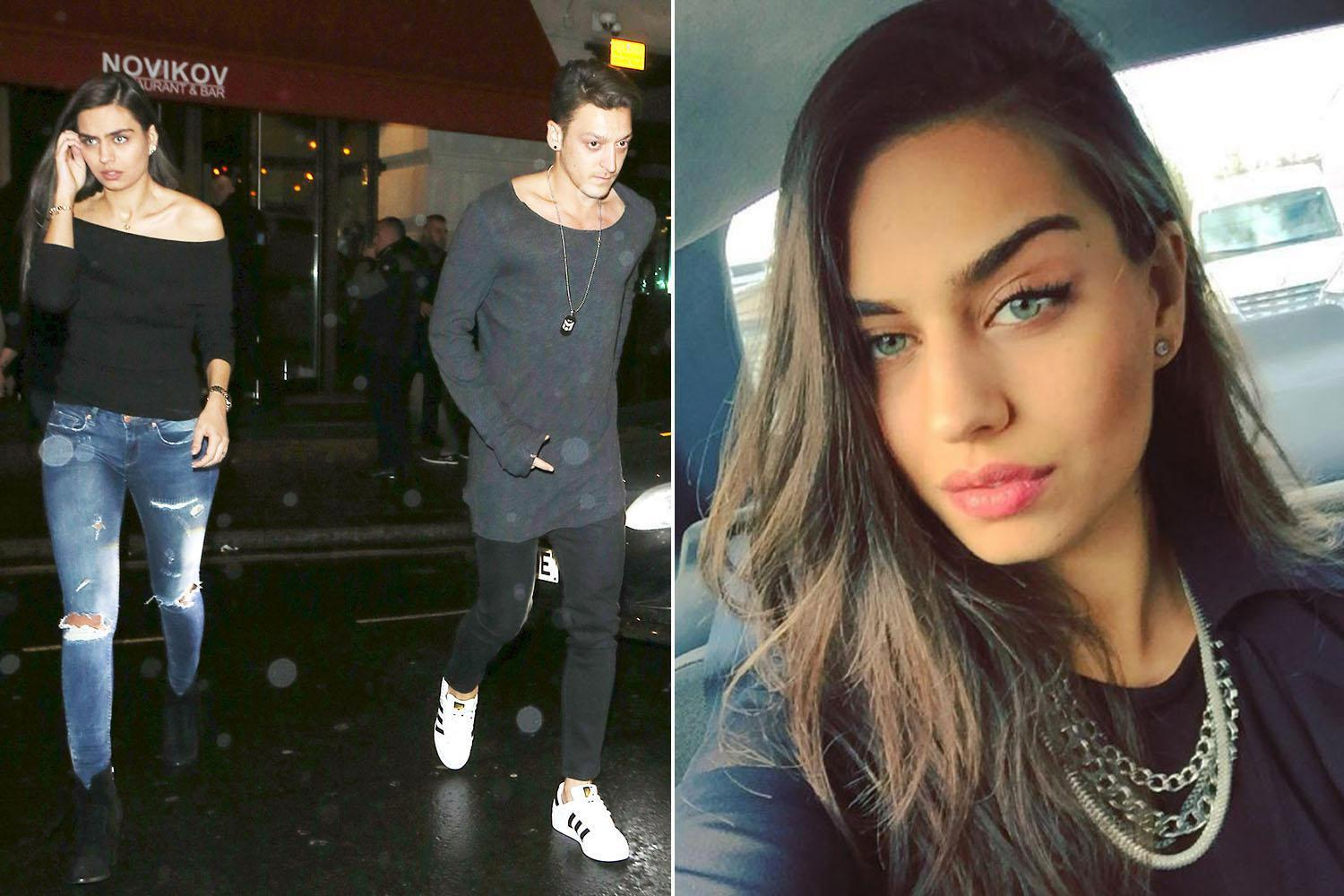 Arsenal star steps out with former Miss Turkey Amine Gulse