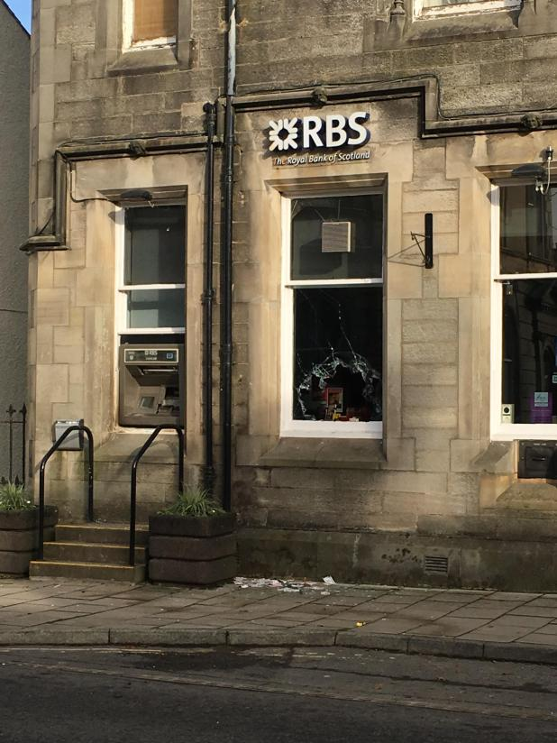 RBS cash machine in Langholm was targeted by Snowdon