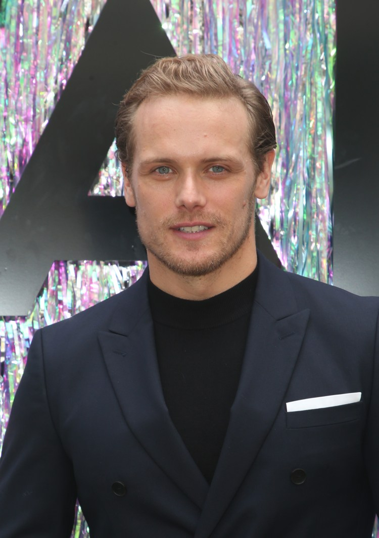 Sam Heughan was sent a throwback snap by a fan
