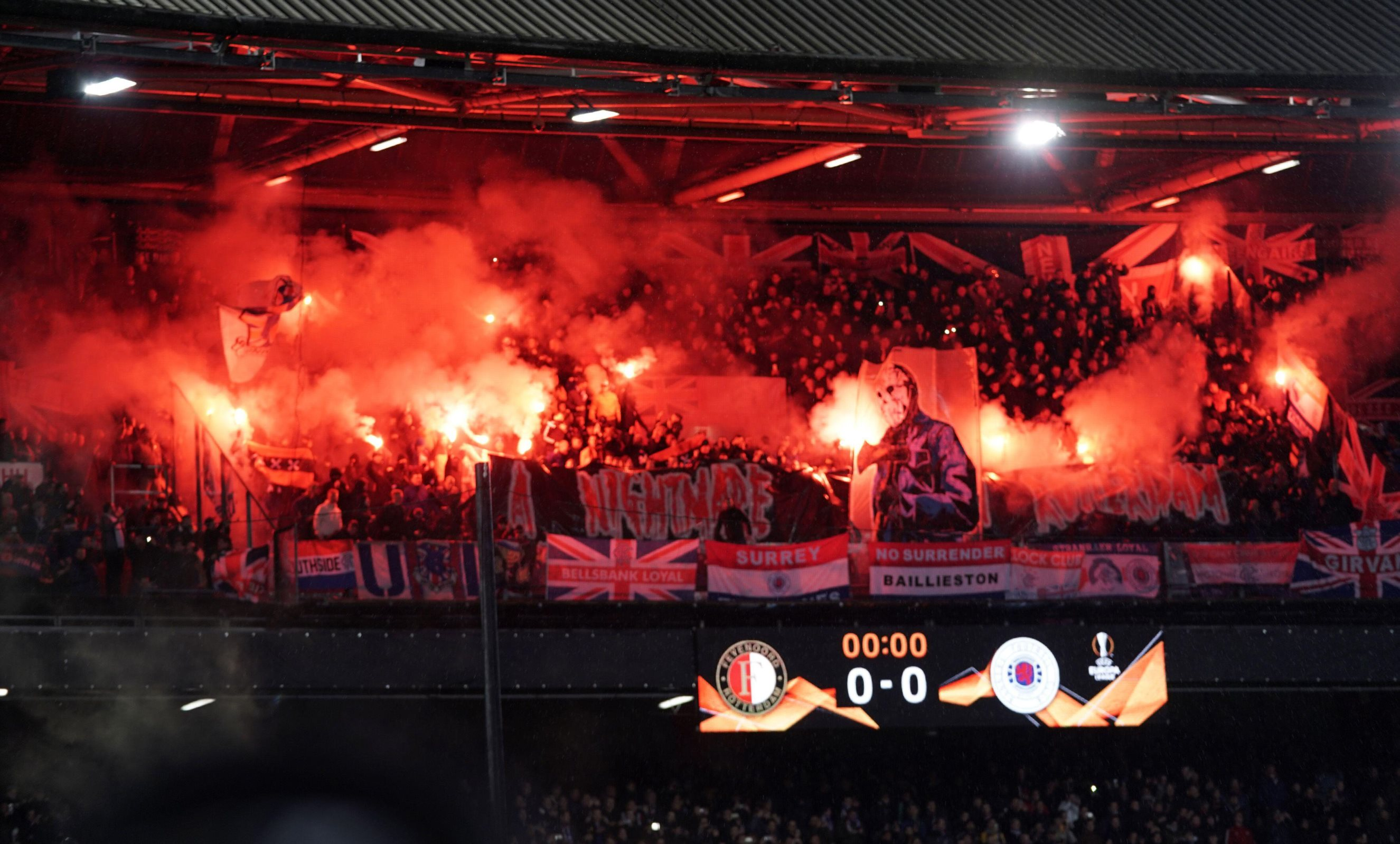 rangers in rotterdam 42 football fans