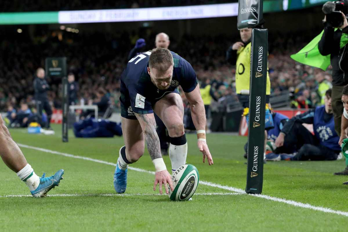 Stuart Hogg trolled by Exeter team-mate after dropping ball in Ireland defeat