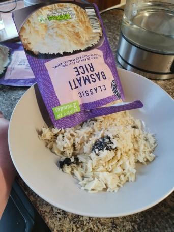 black mould in her basmati rice