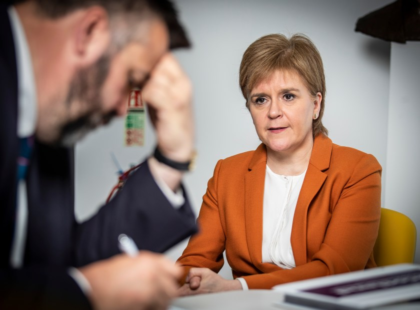 Andy interviewing First Minister Nicola Sturgeon