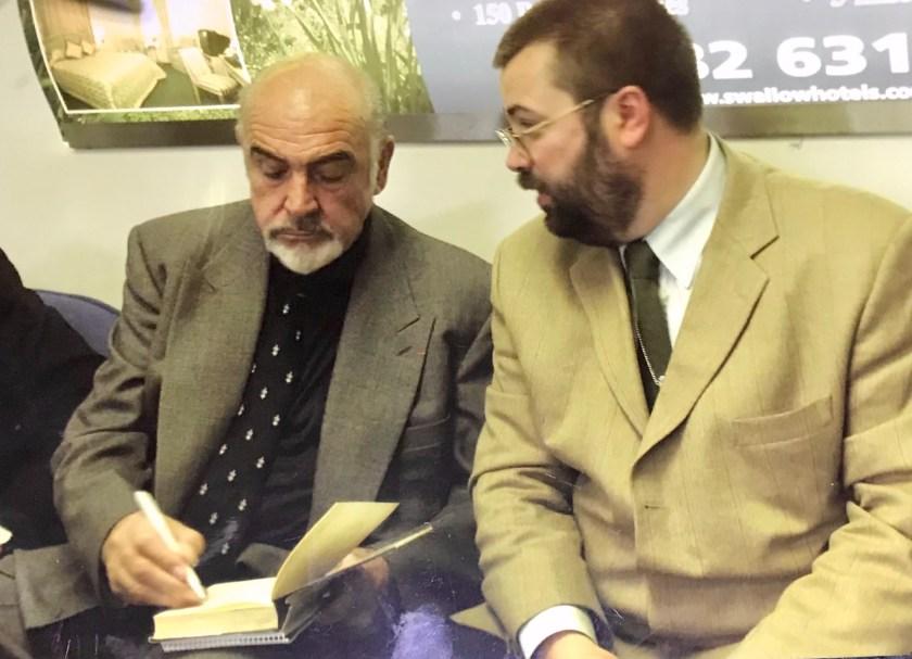 Andy alongside Sir Sean Connery