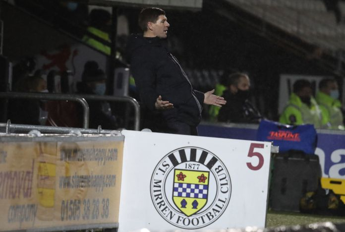 Steven Gerrard keen to make up for League Cup loss to St Mirren