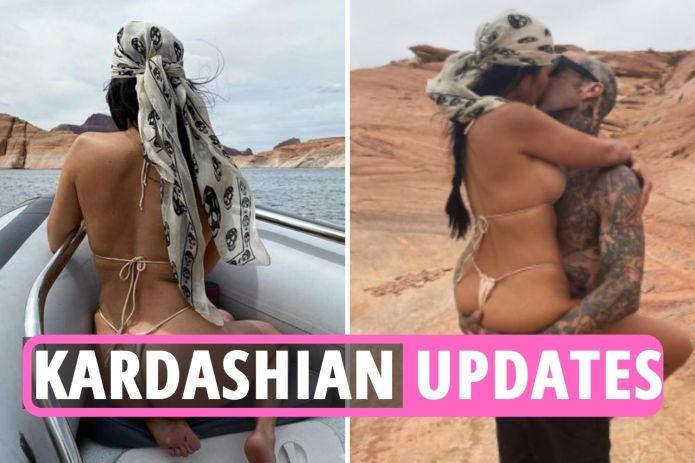 Kardashian latest – Kourtney posts raunchiest EVER pics with Travis Barker