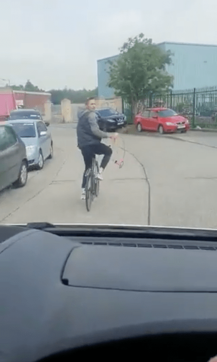"""The cyclist yelled """"F**k yer van as well"""" at the driver"""