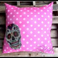 Sugar Skull Pillow Buckle Boutique designed by Madge Gillen