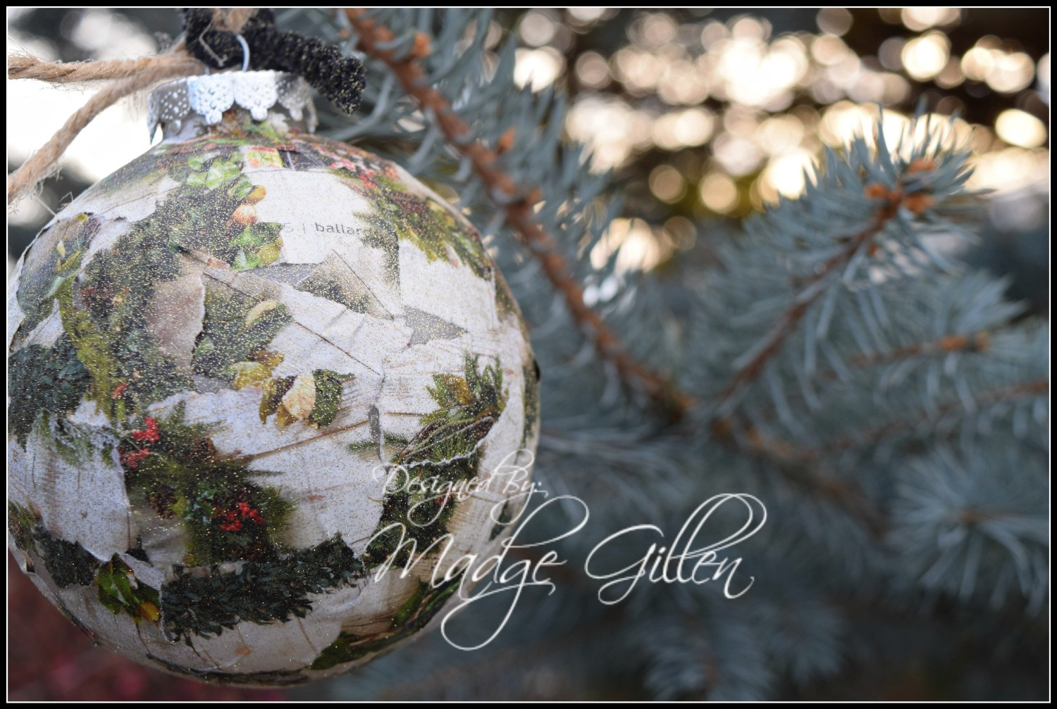 Mod Podge Chirstmas Ornament 3