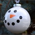 White Painted Snowman Christmas Ornament DIY2.madgegillen