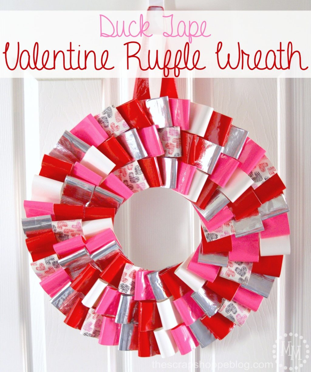 Valentine Ruffle Wreath The Scrap Shoppe